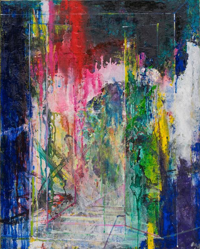 Arhitectura culorilor, 120cmx150cm, autor Iurie Cojocaru