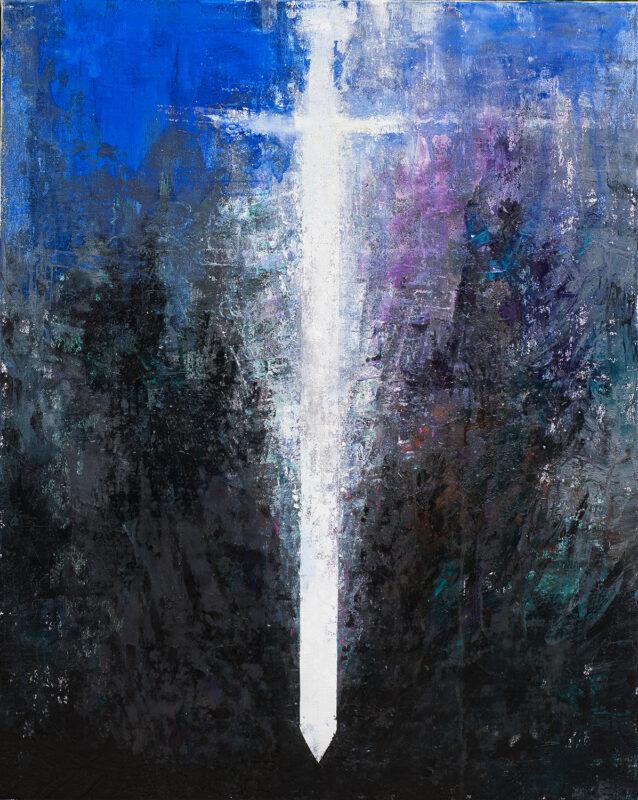Taisul luminii, pictura pe panza, 120cmx150cm, autor Iurie Cojocaru